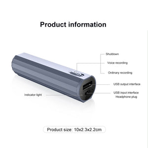 Long Battery Life (500 Hours) 8GB Voice Operated Sound Recorder High Quality 1536kbps