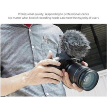 Professional DSLR Video Camera Mini Shotgun Microphone 3.5mm TRS & TRRS Jack with Wind Proof Furry & Shock Mount