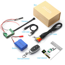 Radio Controlled (key fob) 4K UHD Wireless Wi-Fi Mini Pin Hole Spy Camera Video Recorder DIY Module Kit