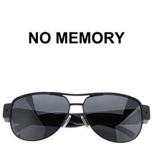 WEARABLE FULL HD 1080p CAMERA VIDEO RECORDER IN BLACK PILOT SUNGLASSES