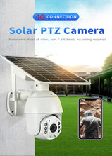 Solar Power Wi-Fi & 4G LTE IP Network CCTV Security 360º Dome Camera 2 Way Audio PIR Night Vision