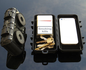 Large Magnetic Stash Box For Under Car Van Truck to Hold Keys Tracker or Small Items