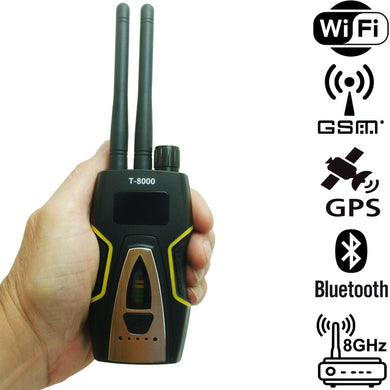 GPS RF Bug Tracker Sweeper Detector Finder 3G 4G 5G GSM WiFi Camera
