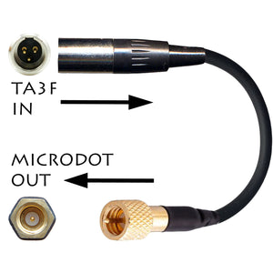 3 pin mini XLR TA3F Microphone Adapter for Wireless Radio Body Pack Transmitters
