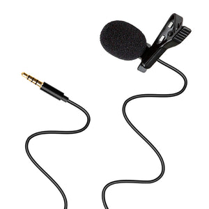 Professional Mini Clip Lapel Microphone 3.5mm TRRS Jack for Smartphone App