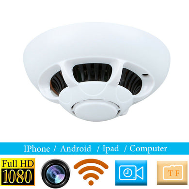 Motion Detection Wireless WIFI Video Surveillance Security Camera In Smoke Alarm