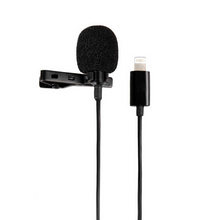 2, 4, 6 Metre Lavaliere Lapel Clip On Microphone Apple iPhone iPad Lightning Connector