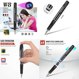 Full HD 1080p Video & Sound Recorder in Real Writing Pen 2 Hr Battery Life