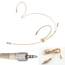 BPE3 BEIGE DUAL DOUBLE EAR HOOK MICROPHONE ULTRA LIGHT WEIGHT STEEL FRAME & DETACHABLE CABLE LEAD