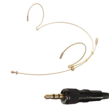 Beige Double Ear Hook Microphone for Sony Radio Body Pack Transmitter