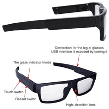 Touch Activated 5MP 1080p Full HD Hidden Spy Video Camera Glasses DVR Recorder