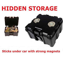 Small Magnetic Stash Box For Under Car Van Truck to Hold Keys Tracker or Small Items