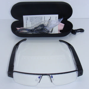 Full HD 1080p Covert Spy Reading Glasses Camera Photo Audio
