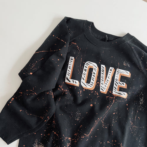 kids LOVE sweatshirt / BLACK / ZEBRA