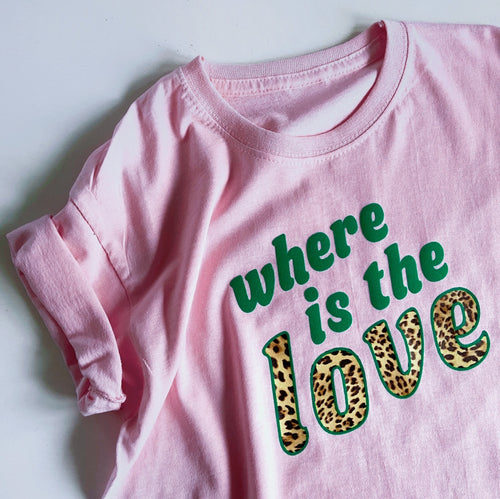 adults WHERE IS THE LOVE tshirt / sweatshirt