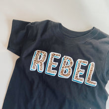 kids REBEL short sleeve tee / BLACK / LEOPARD / TEAL