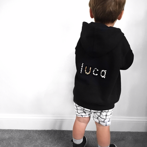 kids NAME zip up hoodie
