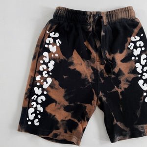 kids BASICS bleach dye shorts