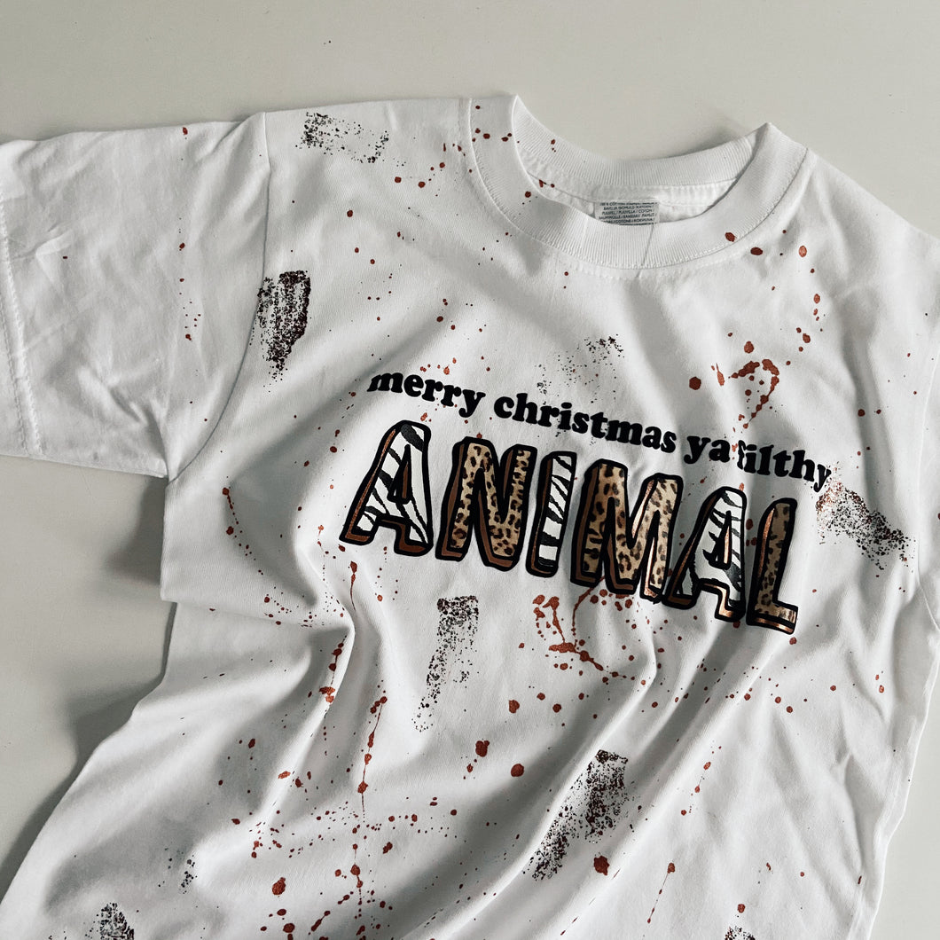 kids FILTHY ANIMAL short sleeved tee / WHITE / MIX ANIMAL