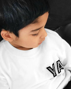 kids MONOGRAM long sleeved tshirt