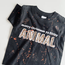 kids FILTHY ANIMAL short sleeved tee / BLACK / LEOPARD
