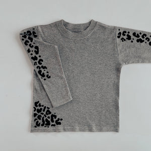 kids BASICS leopard LONG SLV