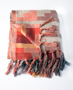 Autumn Shades Cotton Throw Blanket