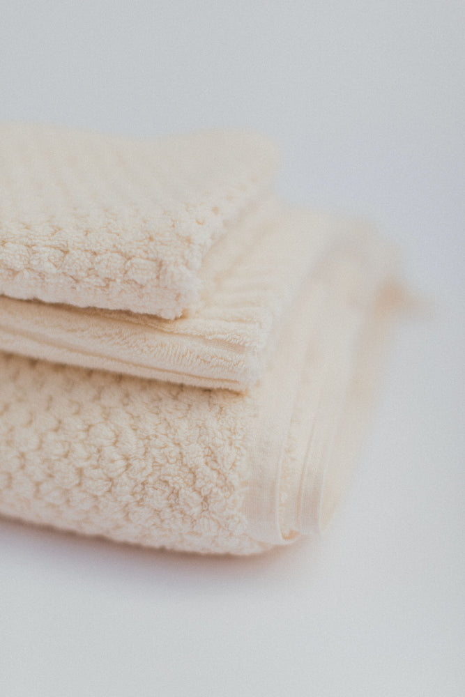 ecru organic cotton bath towel set