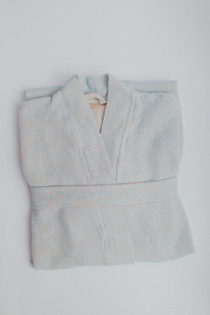 The Sherbet Bathrobe in Robins Egg Blue