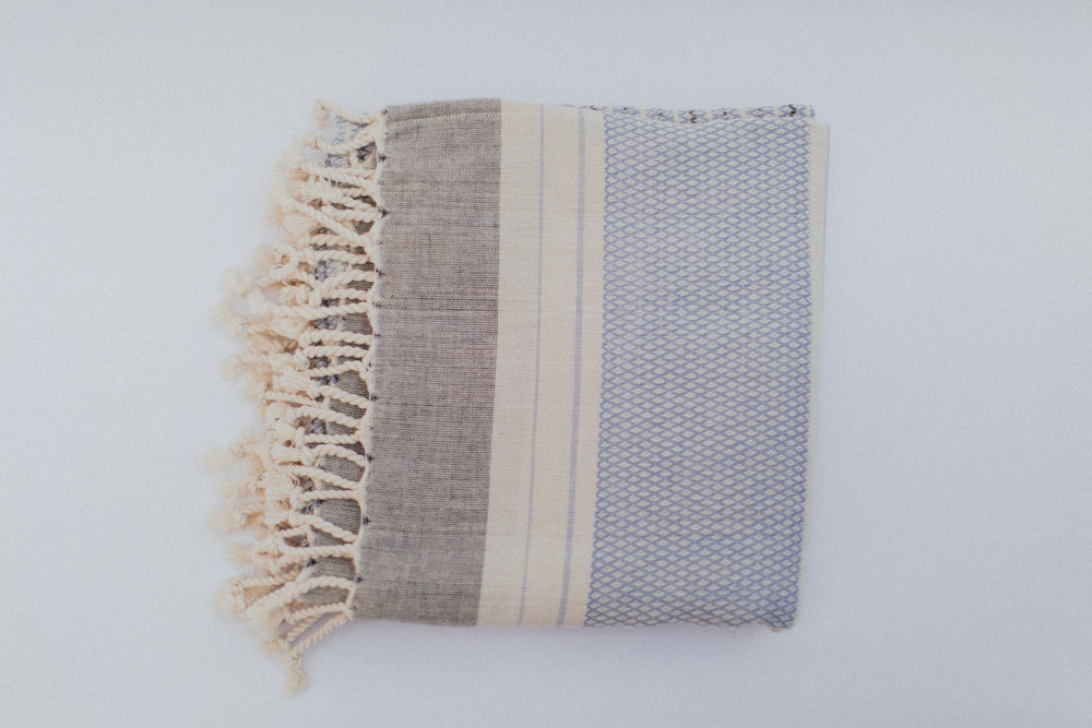 Elmas Towel in Soft Periwinkle