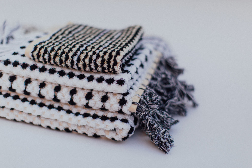 Black & White Facecloth