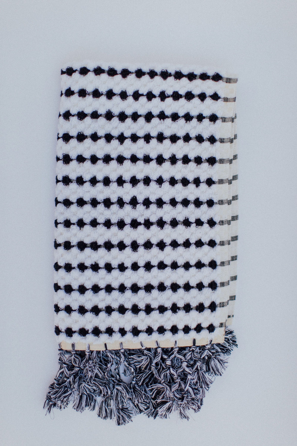 black and white bath mat hand-loomed with 100% G.O.T.S. Organic Cotton. Plush and beautiful.