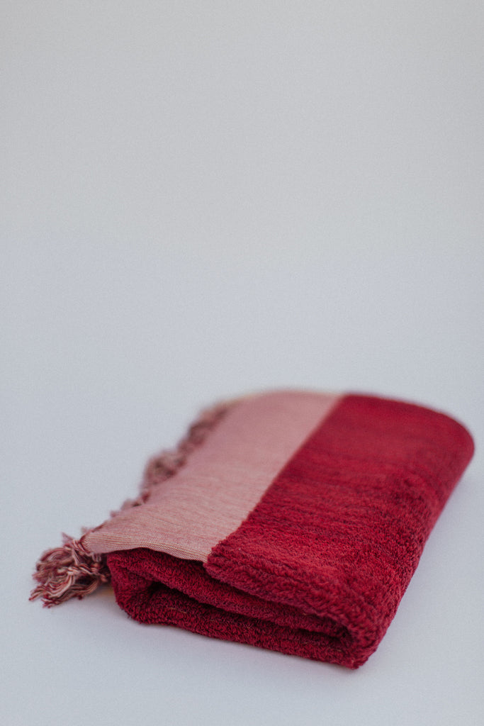 Burgundy Bath Towel