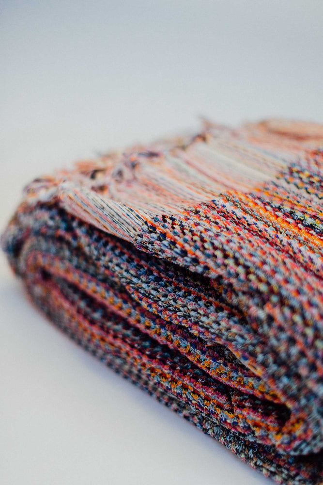 Thick Loop Blanket in Persimmon Multicolour