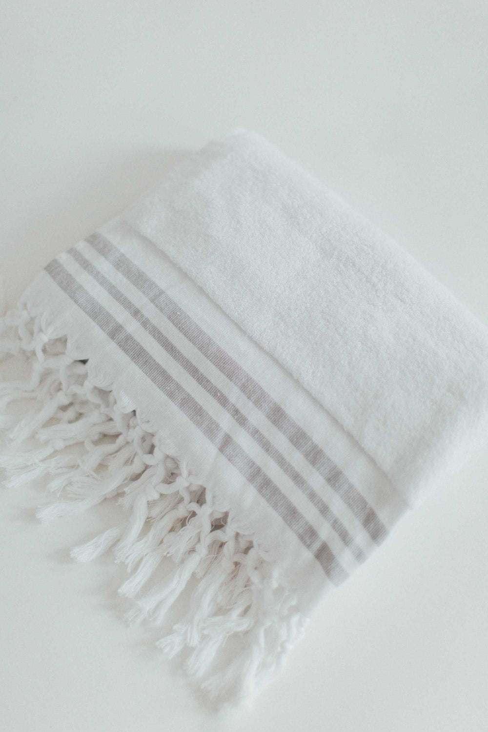 White Bath Towel