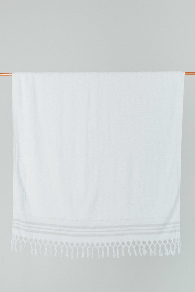 White Turkish Size Bath Sheet