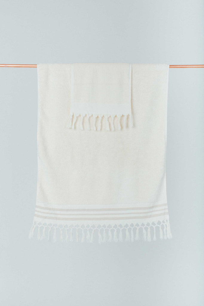 Ecru Bath Towel Set