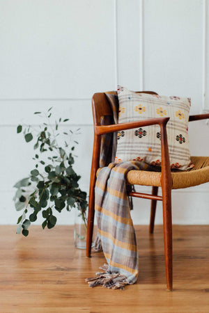 Stripe Cotton Throw Blanket