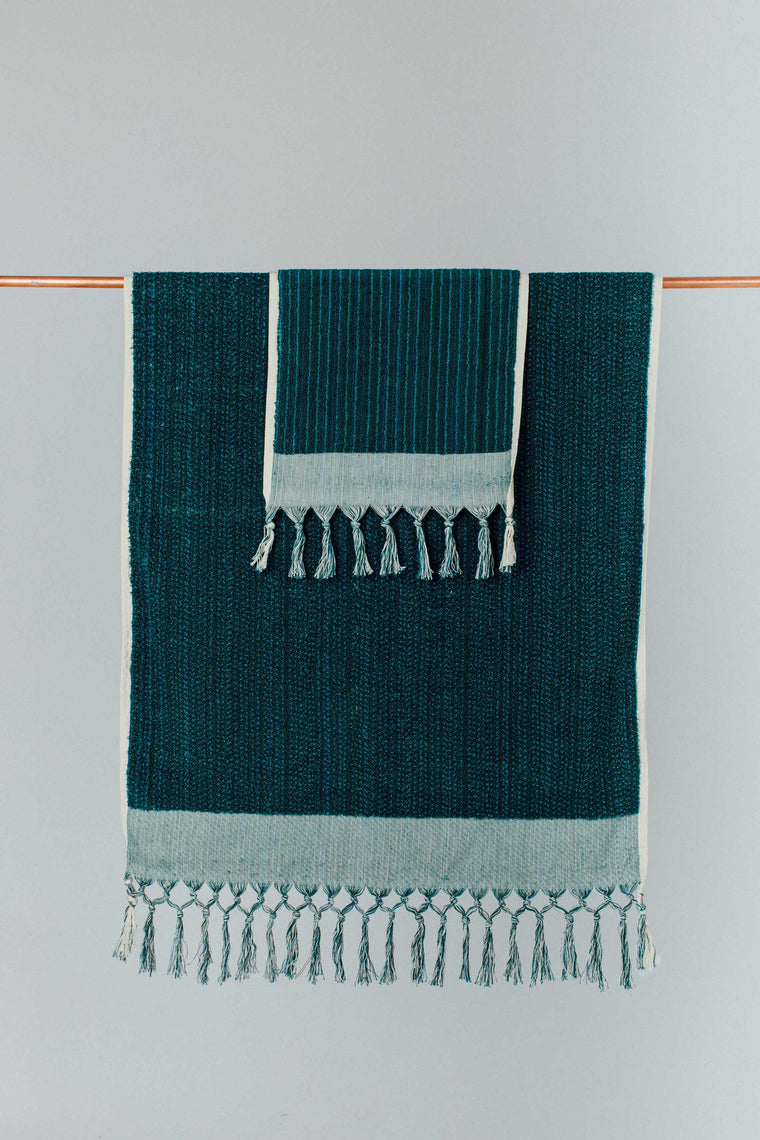Deep Sea Green Hand Towel