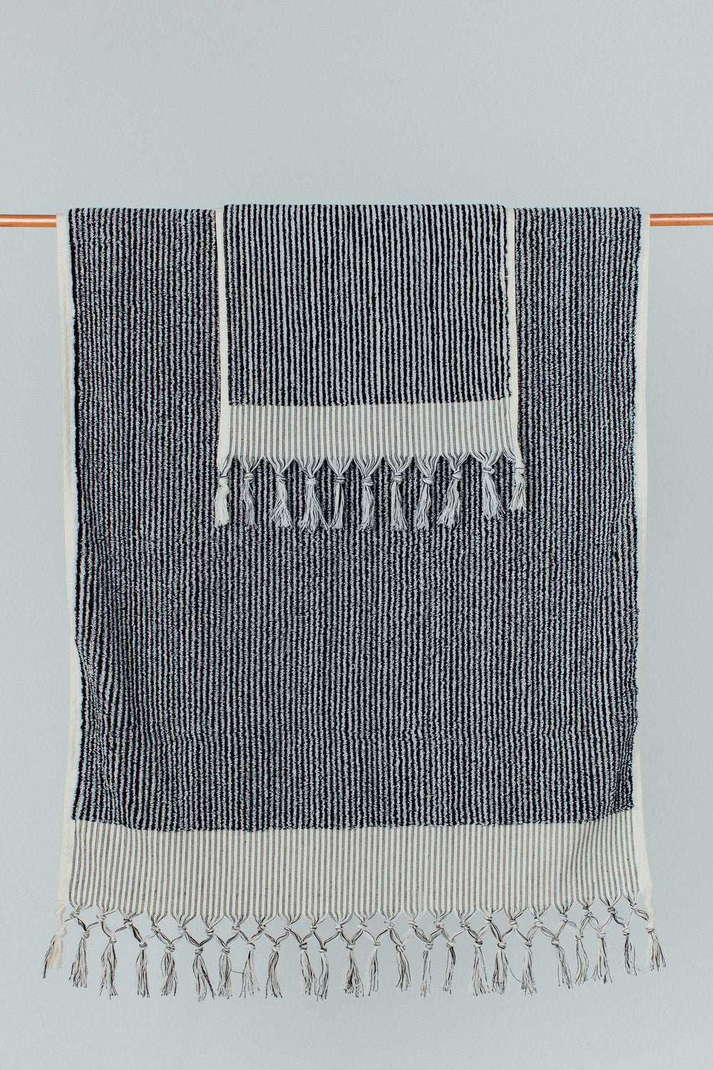 Black & White Stripe Bath Towel