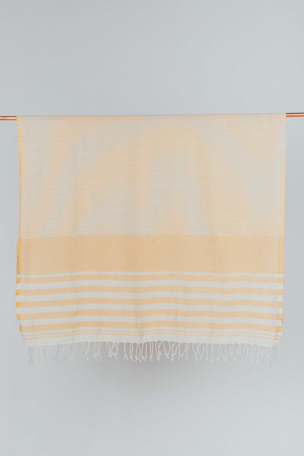 Ecru and Mustard Yellow Organic Cotton Turkish Towel