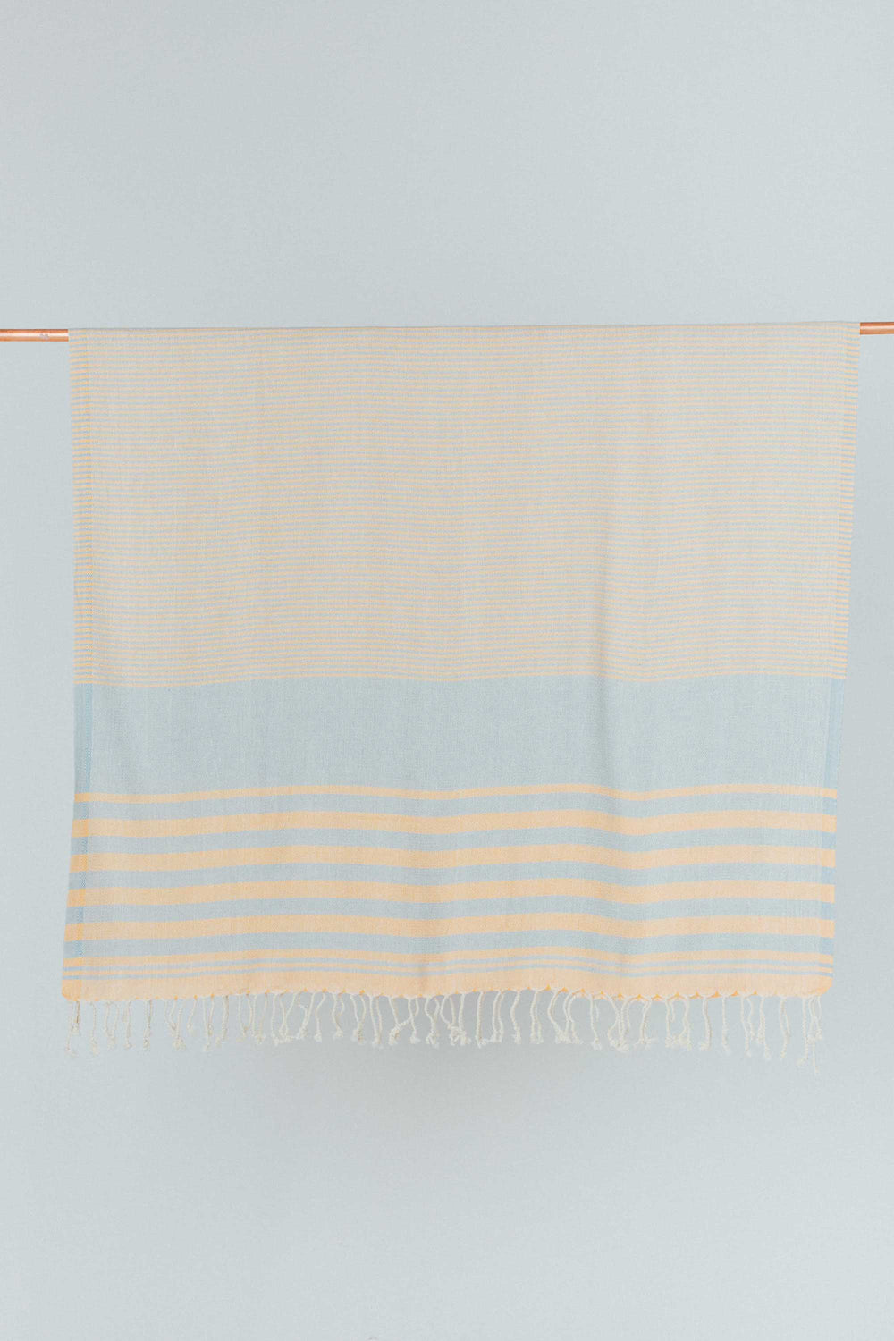 Peach and Blue Organic Cotton Turkish Towel