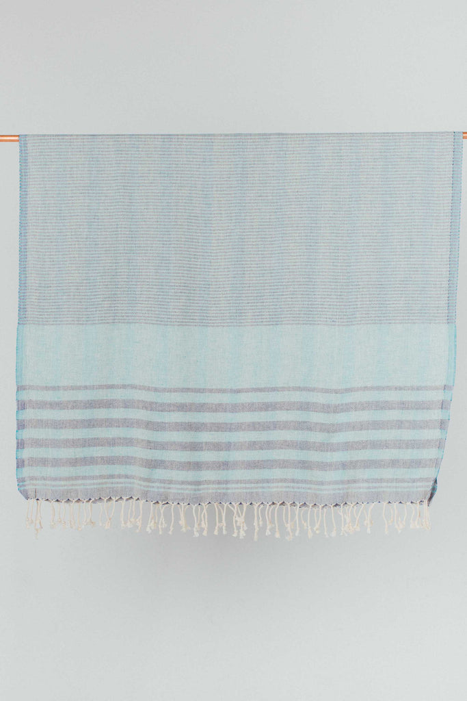 Indigo and Blue Cotton Turkish Towel