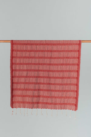 Red Flat Weave Hand Towel