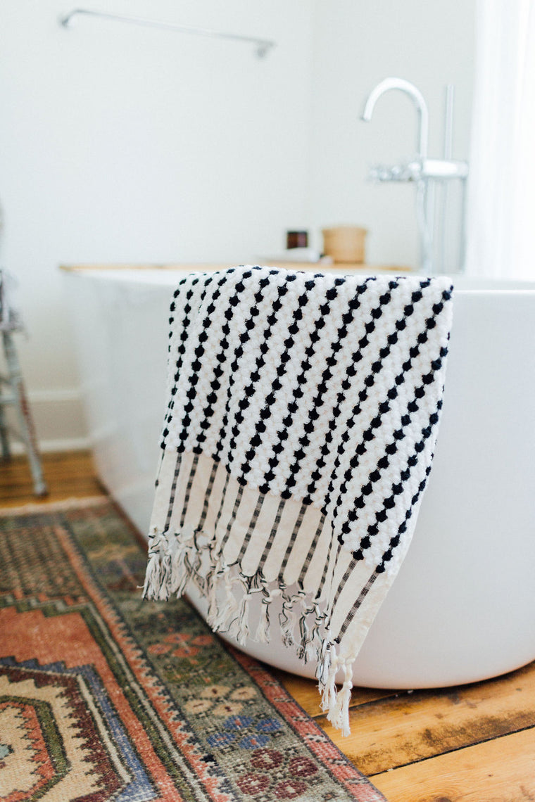 Black & White Bath Towel