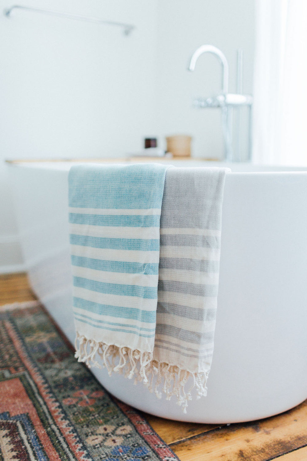 striped organic turkish towel
