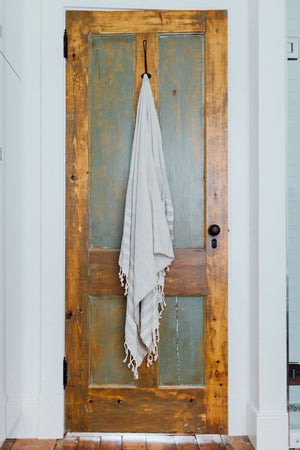 light grey organic turkish towel