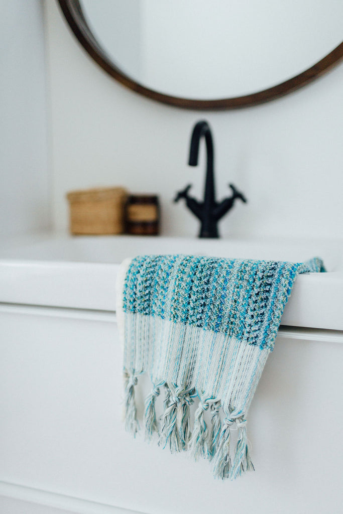 Opalescent Turquoise Hand Towel