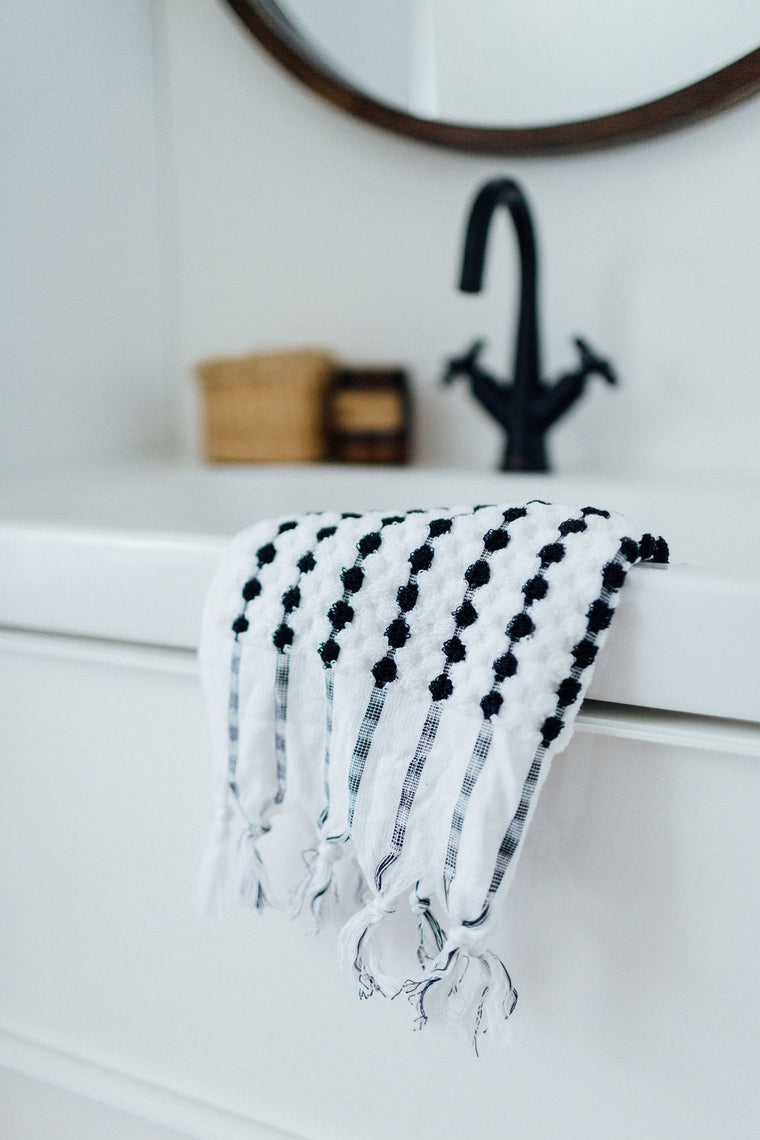 Black & White Hand Towel