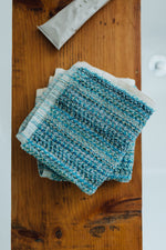 Opalescent Turquoise Facecloth